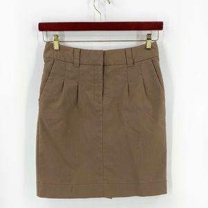 Elevenses Anthropologie Skirt Size 4 Brown NEW